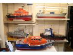 Some of the original kit prototypes on display in the Model Slipway factory.